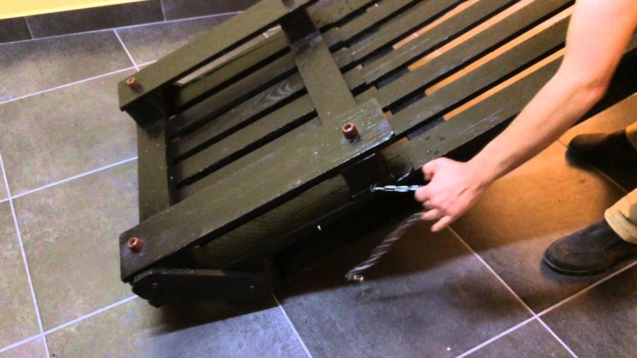 Demonstra o do sof cama trabalho feito com paletes youtube - Sofa camif ...