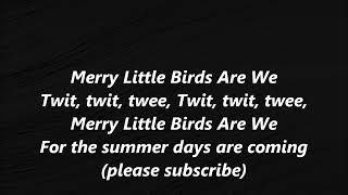 Merry Little Birds Are We Stephen Foster LYRICS WORDS BEST Steven SING ALONG SONGS