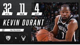 Kevin Durant highlights vs. Milwaukee Bucks