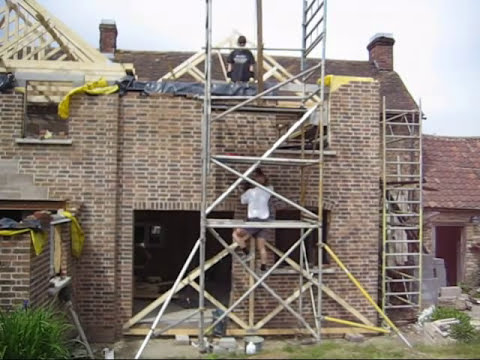 Lifting My Roof Trusses Youtube
