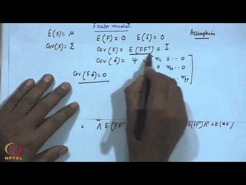 Mod-01 Lec-33 Factor Analysis