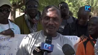 """Sit-in: Les agent de """"SÉN SÉCURITÉ"""" réclament leur 5 mois de salaire  Abdoul Karim Diop, leur em"""