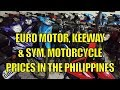 Euro Motor, Keeway & Sym Motorcycles Prices In The Philippines.