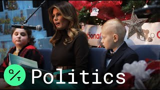 Melania Trump Visits Patients at Children's National Hospital in Holiday Tradition