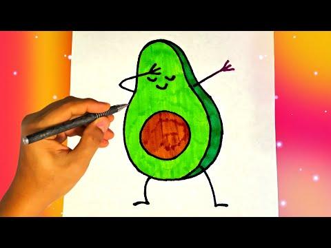Как нарисовать АВОКАДО, Лёгкие рисунки для начинающих