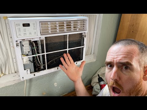 How to Clean A Window Air Conditioner (AC unit)The Easy Way Without Removing From Wall The Right Way