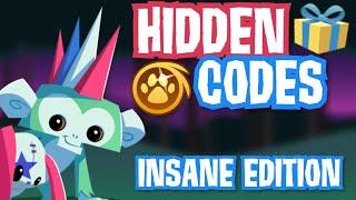 HIDDEN CODES: INSANE EDIṪION    Animal Jam