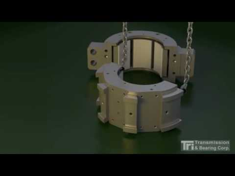 Assembly of a Tilt Pad Bearing with Saddle Blocks