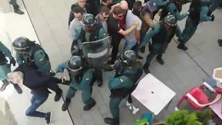 Càrrega Guàrdia Civil a Fonollosa contra el referèndum de Catalunya
