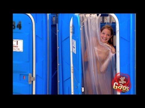 girl pranked in shower