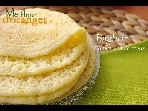 Recette de Baghrir : Crêpes à mille trous /  Moroccan pancakes recipe