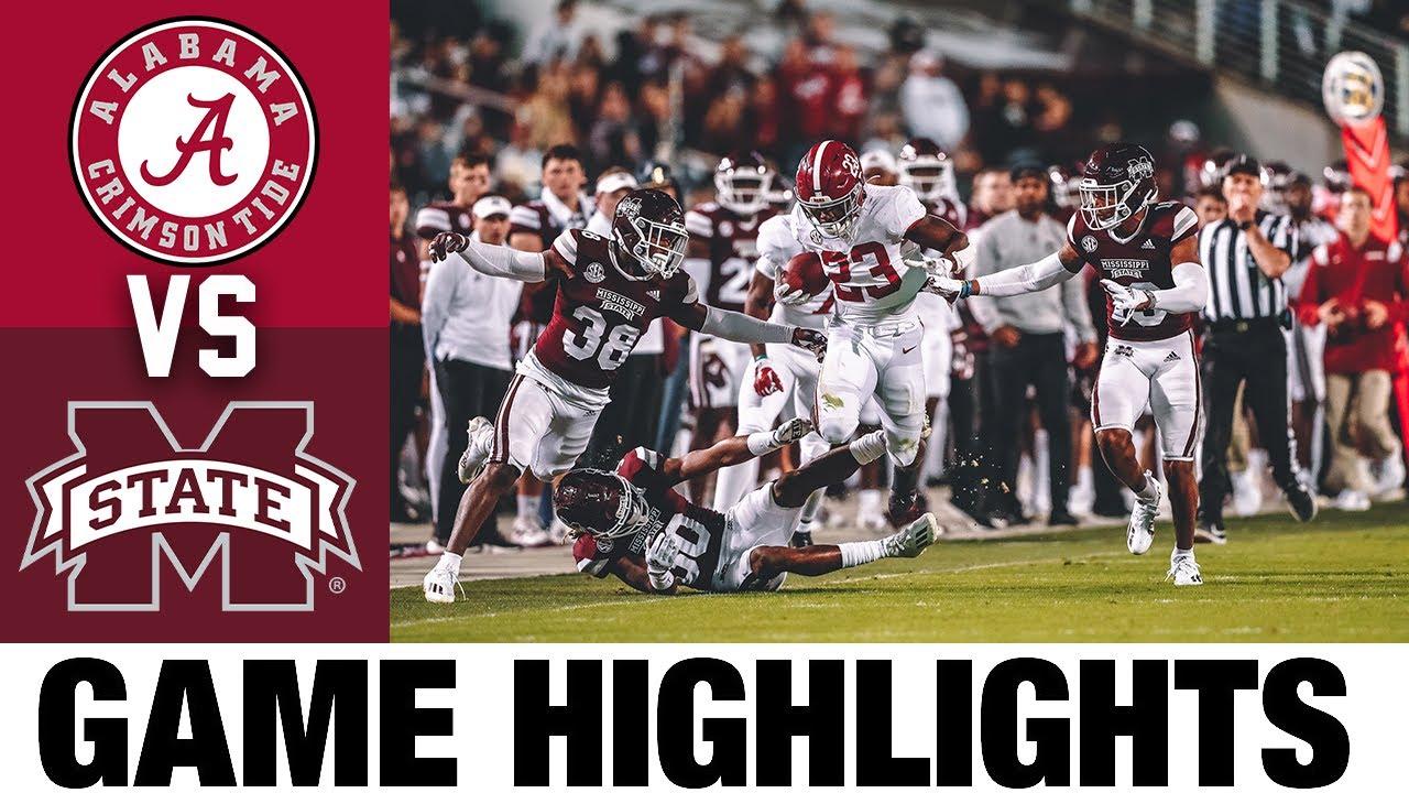 #5 Alabama vs Mississippi State   Week 7   2021 College Football