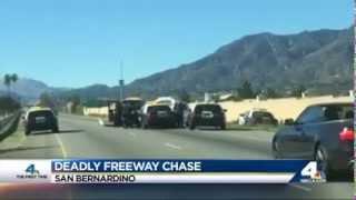 Police Chase Shooting San Bernardino California 2-13-2015