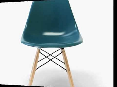 chaise eames dsw couleur www.editiondesign.fr - youtube - Chaise Charles Eames Dsw