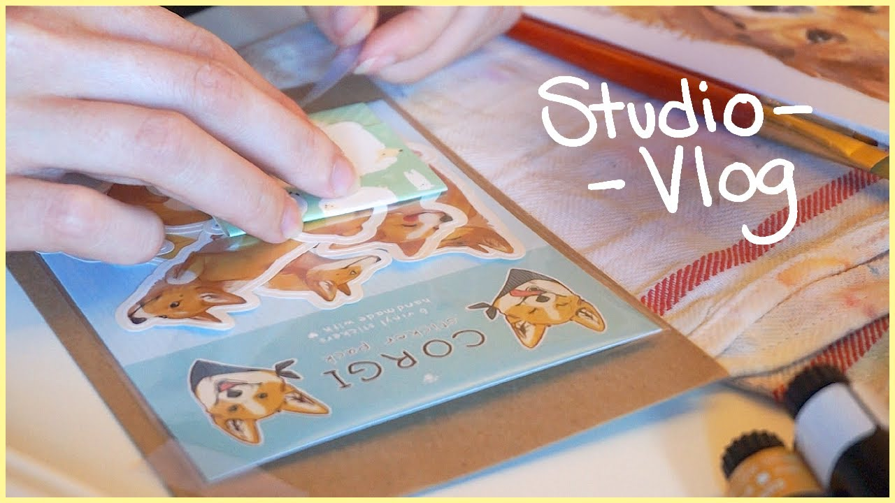 🎨Acrylic Painting, Silhouette Cameo, Packing Orders - Studio Vlog