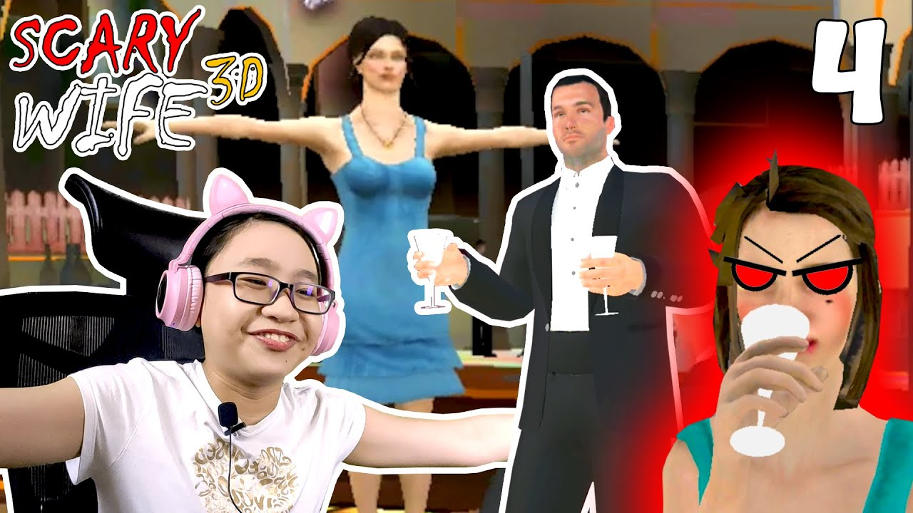 Download Scary Wife 3D - Part 4 - END OF SCARY WIFE -  Let's Play Scary Wife 3D!!!