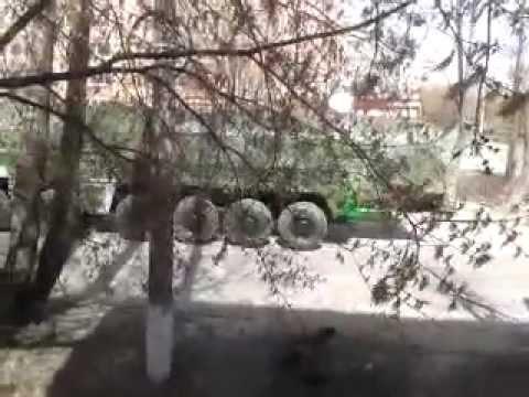 Движение военной техники по Йошкар-Оле