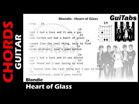 Blondie - Heart of Glass ( Lyrics and GuiTar Chords ) 🎸