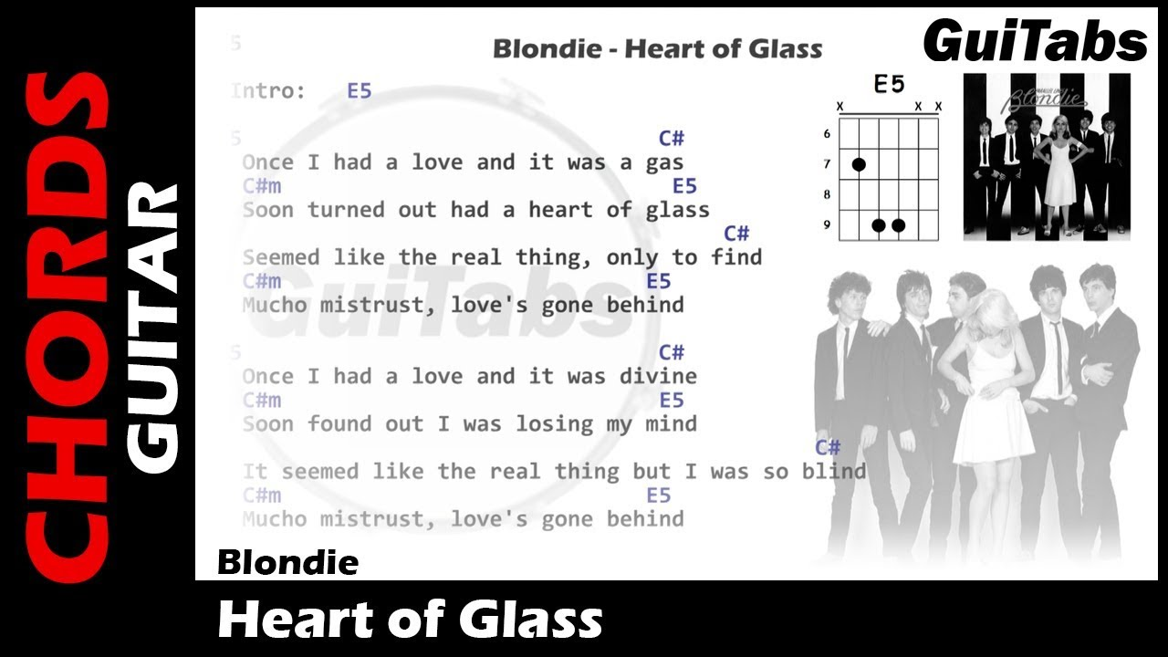 Blondie Heart Of Glass Lyrics And Guitar Chords Youtube