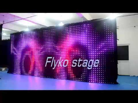 Flyko Stage Led Curtain Led Video Cloth Stage Backdrop P100 32x8m YouTube