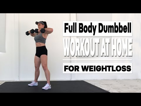 FULL BODY DUMBBELL WORKOUT AT HOME (For Weight Loss)