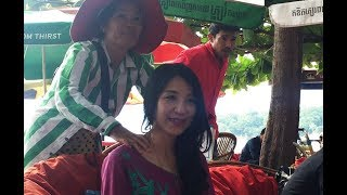 สาวเขมรนวดริมหาด ฝีมือดีมาก : khmer massage In  Sihanoukvillecity cambodia
