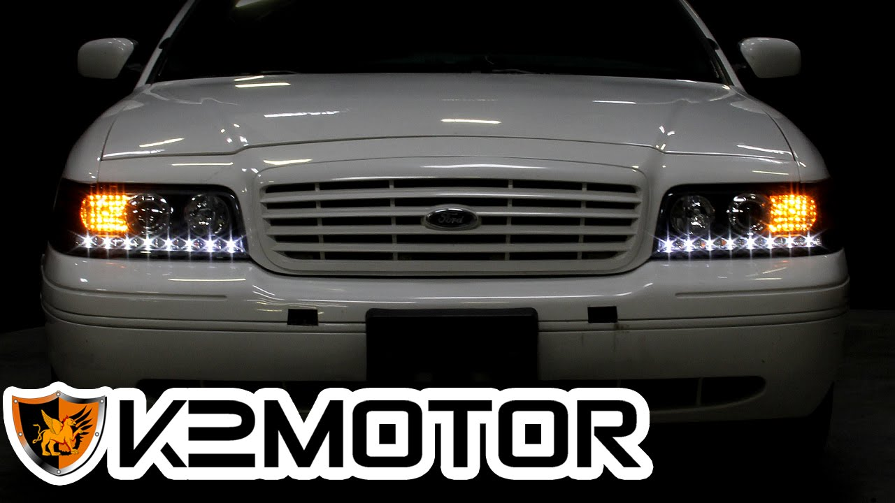 K2motor installation video 1998 2011 ford crown victoria projector headlights youtube
