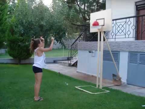 Diy basketball goal youtube for How to build a basketball goal