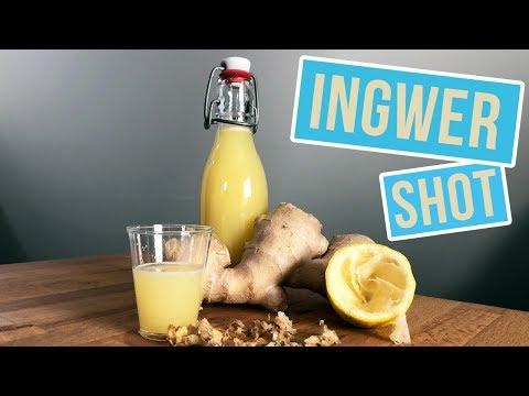 Ingwer Shot Rezept | Ginger Shot herstellen ohne Entsafter