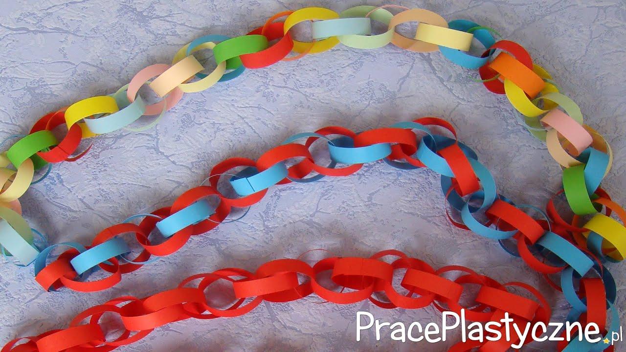 Jak zrobić łańcuch na choinkę z papieru?  YouTube -> Kuchnia Dla Dzieci Jak Zrobić
