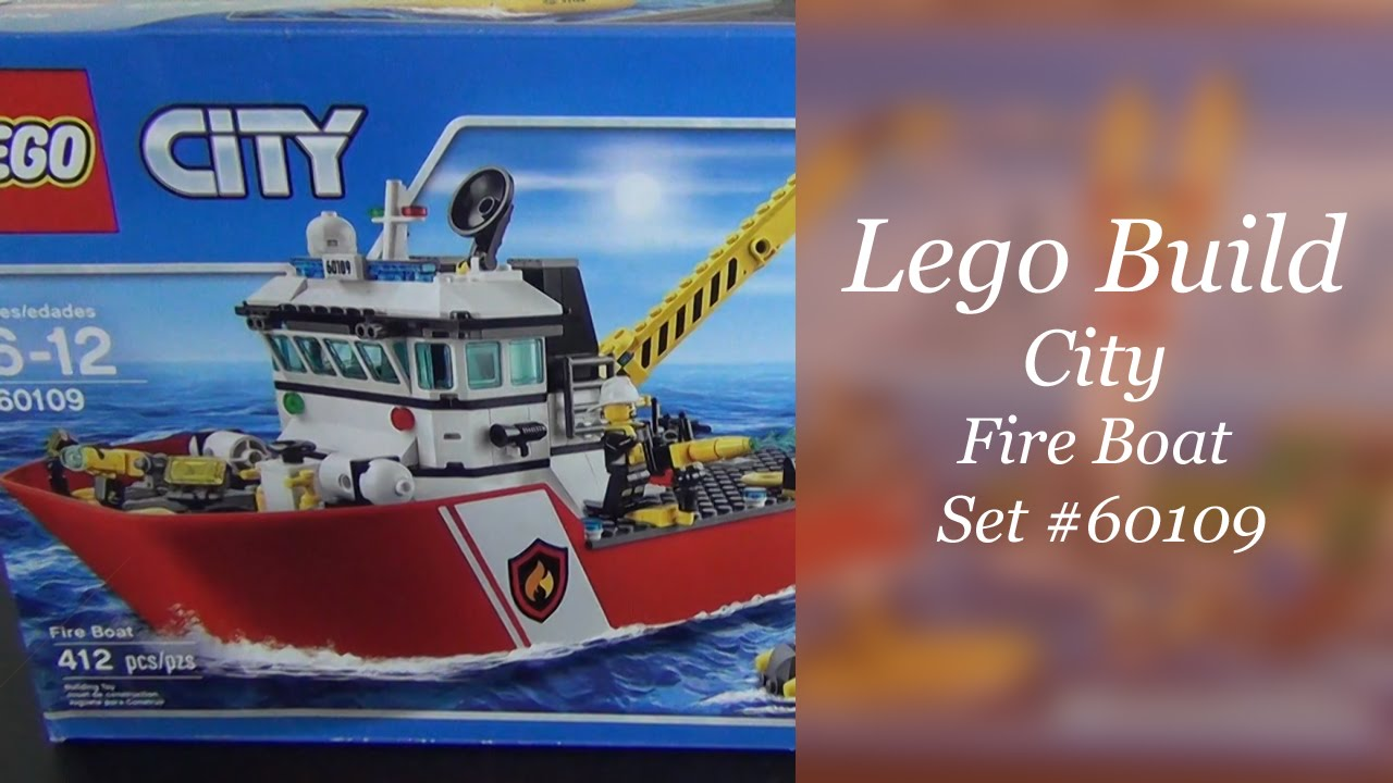 Brand New LEGO City Fire 60109 Fire Boat