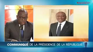 Annonce officielle du décès du Premier ministre ivoirien Hamed Bakayoko (Gouvernement)
