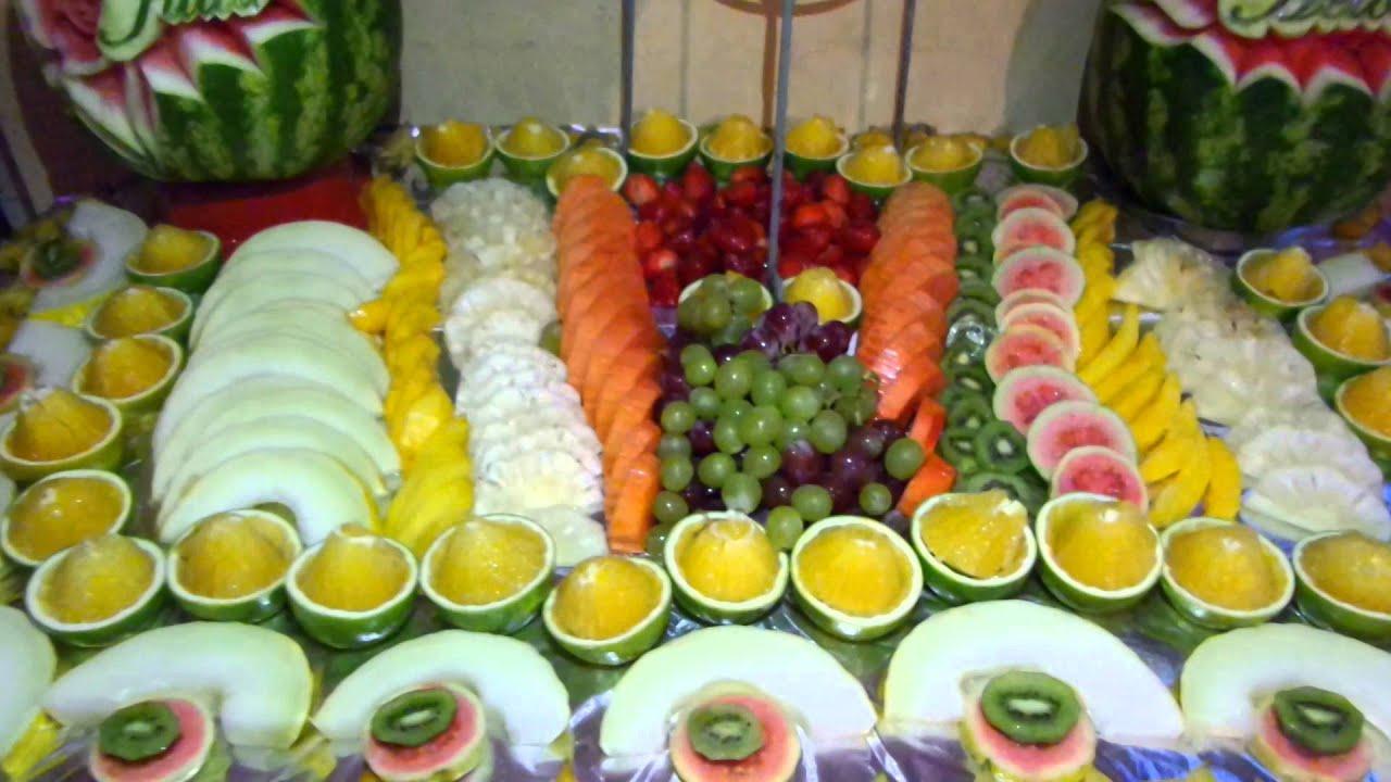Mesa De Frutas Decoradas