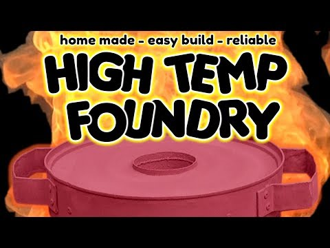 SIMPLE Homemade Metal Melting Furnace (Foundry) for metal casting - by VOG (VegOilGuy)