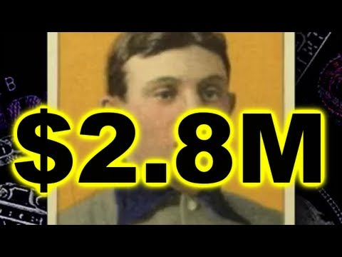 28 Million Most Valuable Baseball Card Honus Wagner T206 Youtube