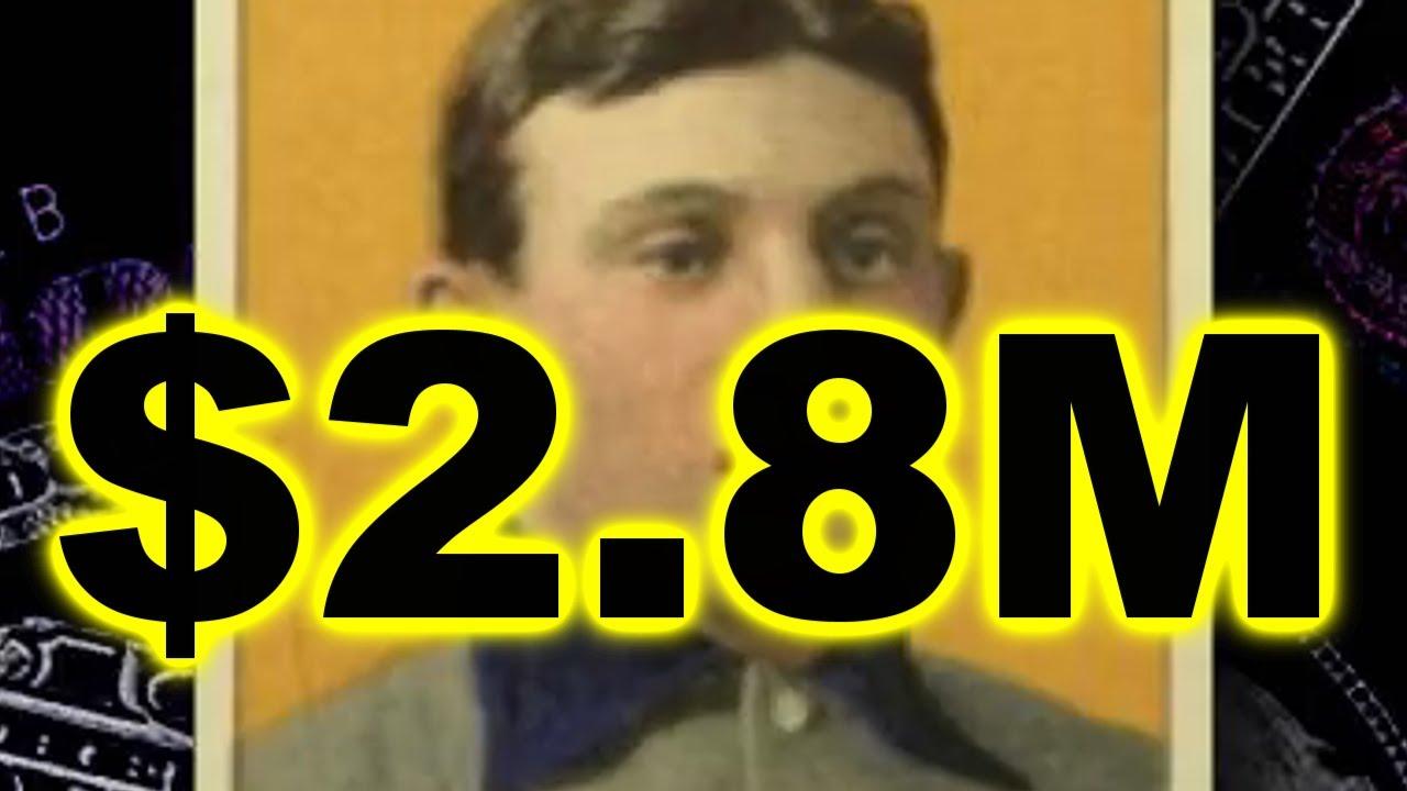 28 Million Most Valuable Baseball Card Honus Wagner T206