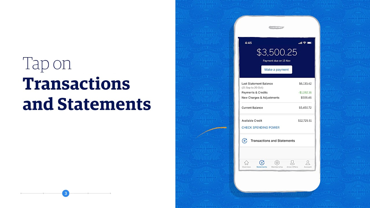 Learn How To View Transaction Details: Amex Mobile App | American Express