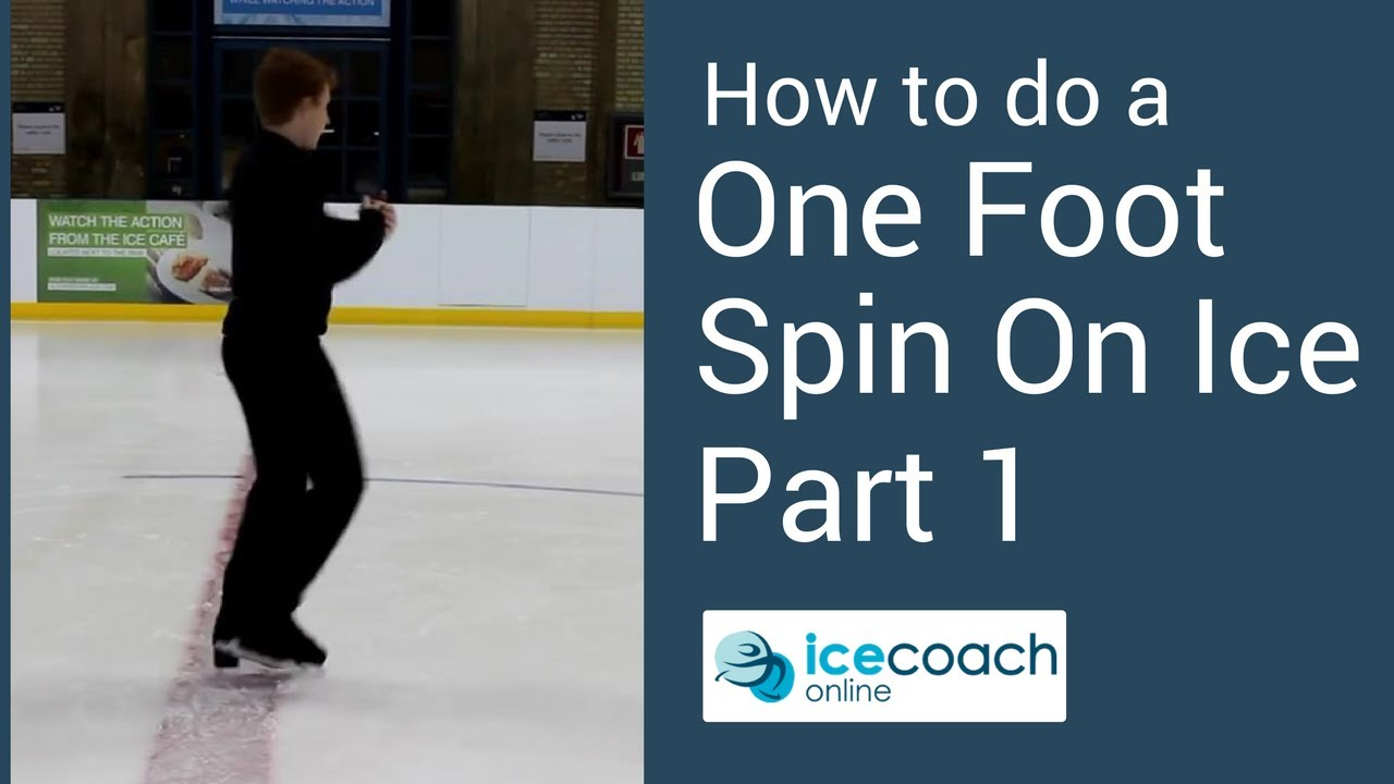 Learn How To Ice Skate  Beginner One Foot Spin Part 1