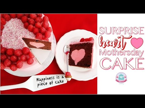 SURPRISE HEART MOTHERSDAY CAKE| Abbyliciousz The Cake Boutique