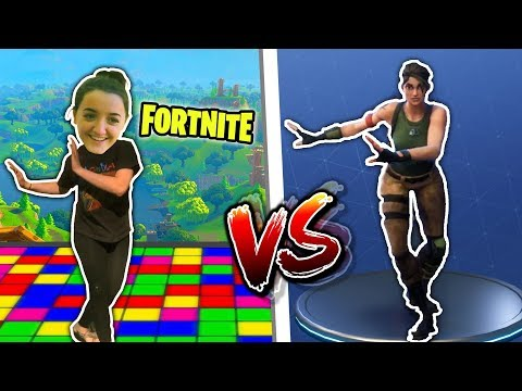 FORTNITE DANCE CHALLENGE WITH BLOOPERS....REAL LIFE DANCE!