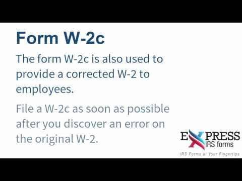 Print Irs Form W2c E File A W 2c Correction Form With Expressirsforms