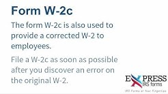 E-file a W-2c Correction Form with ExpressIRSForms