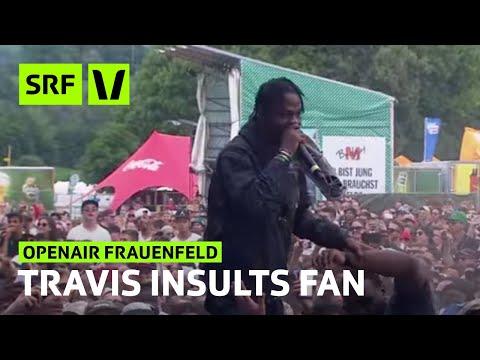 Openair Frauenfeld: Rapper Travis Scott bespuckt einen Zuschauer!