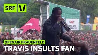 Openair Frauenfeld Travis Scott spits on fan who tried to steal Yeezys  SRF Virus