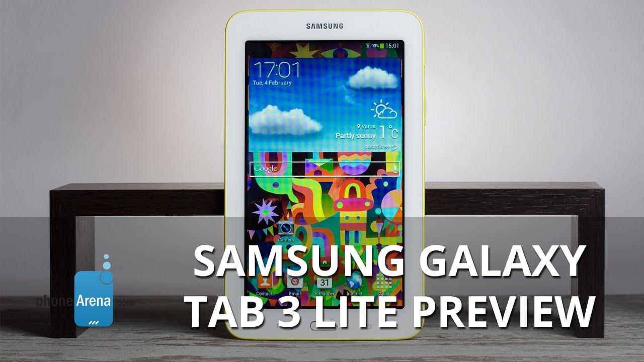 Samsung Galaxy Tab 3 Lite Preview Youtube