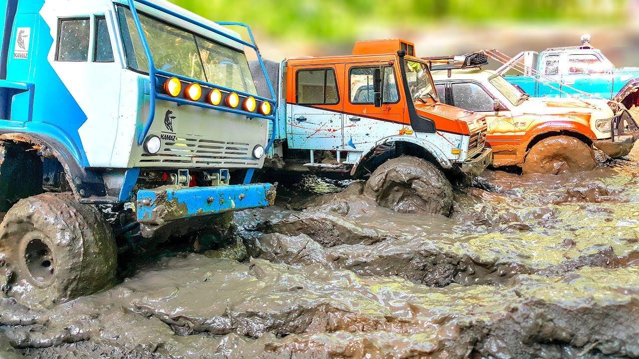 RC Cars Extreme MUD Test – Kamaz – Axial SCX10, Unimog – Traxxas TRX4, Land Cruiser - Axial SCX10 II