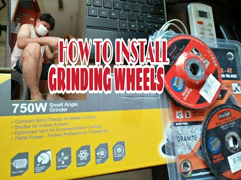 HOW TO INSTALL GRINDING WHEELS|ON A LOTUS 750W SMALL ANGLE GRINDER