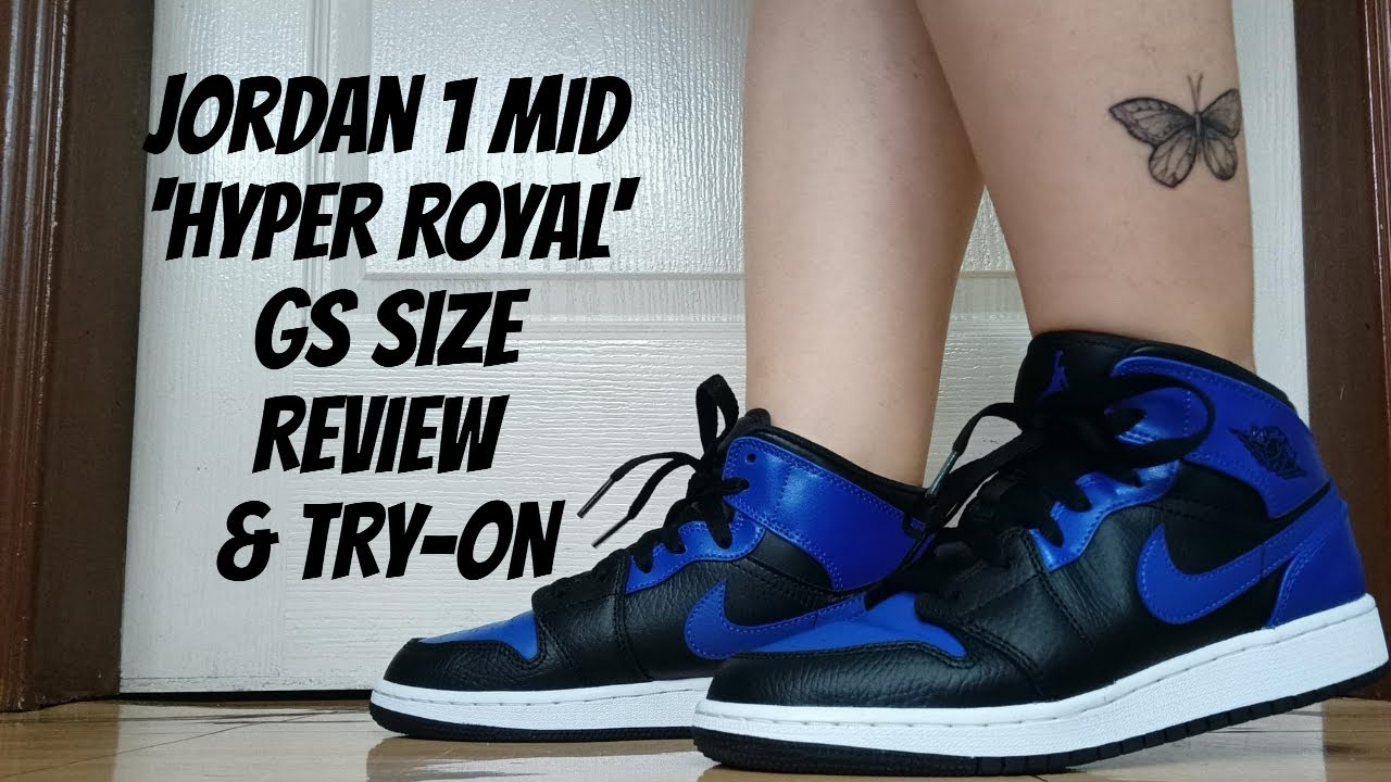 AIR JORDAN 1 MID 'HYPER ROYAL' GS SIZE   REVIEW & TRY-ON   PHILIPPINES