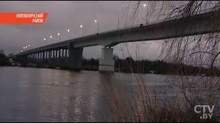 В Житковичах треснул мост через Припять