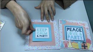牧莎DIY手藝教室-KAISERCRAFT 2016 Party time/Birthday生日派對圖卡卡片作品分享